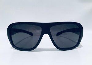 Prada Hoekige zonnebril zwart-rood
