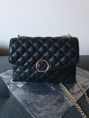 schwarze Step-Umhängetasche von H&M