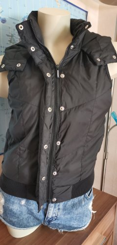 schwarze Steppweste mit Kapuze von Adidas Gr XS