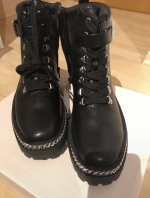 JustFab Combat Boots black