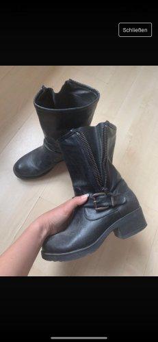 Schwarze Stiefel 38