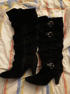 schwarze Stiefel 39