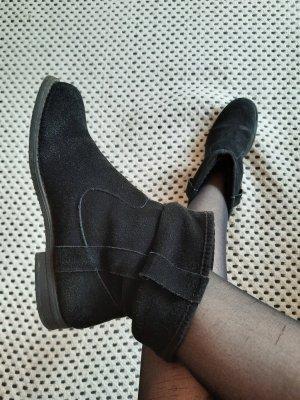 Schwarze Stiefel aus echtem Leder- 38