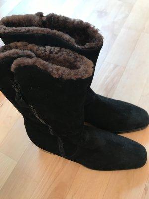 Baldinini Futrzane buty czarny-ciemnobrązowy