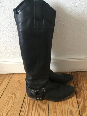 Schwarze Stiefel *Biker/Reiter Style