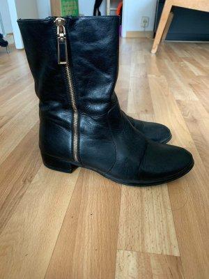 Vibram Boots western noir cuir
