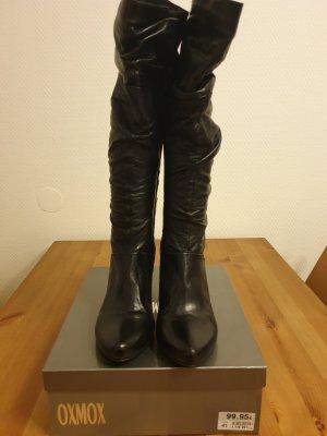 Oxmox Bottes à talon noir cuir