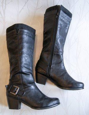schwarze Stiefel Gr. 36