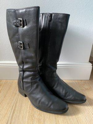 Schwarze Stiefel Gr. 38,5 Echtleder