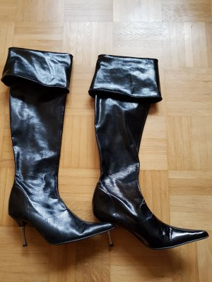 schwarze Stiefel Made in Italy/Milano