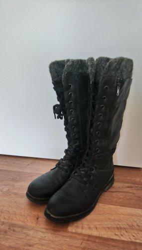 Marco Tozzi Winter Boots black-grey