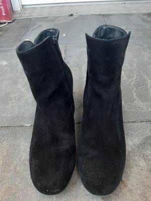 Paul Green Laarsjes met sleehak zwart