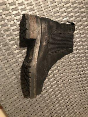 Apple of eden Slip-on Booties black leather