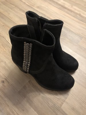 Graceland Wedge Booties black-silver-colored