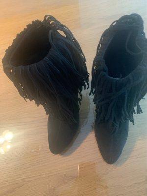 schwarze Stiefeletten von Zara Größe 36