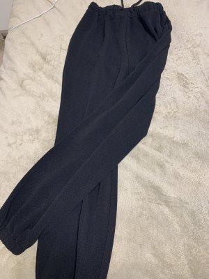 Schwarze Stoff Hose
