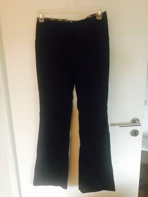 Schwarze Stoffhose Basic