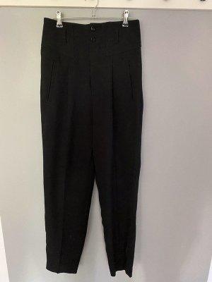 Schwarze Stoffhose / Hose von Mango Suit, Gr. 36
