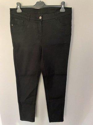 Schwarze Stoffhose / Hose von UpFashion, Gr. 42