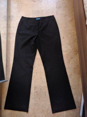Schwarze Stoffhose in Größe 40/L