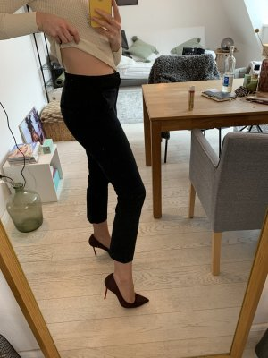 Schwarze Stoffhose Mid-waist
