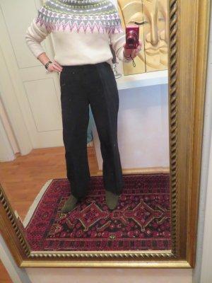 Schwarze Stoffhose mit weitem Bein - Gr. M - GAME Gaby Mersmann - Business Look