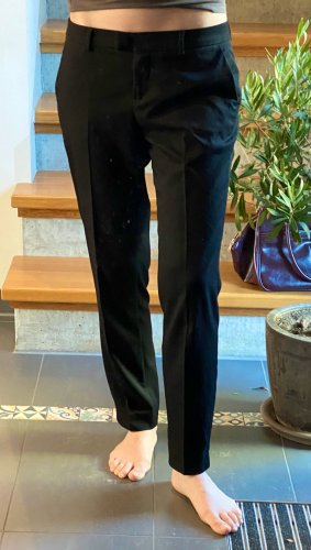 Schwarze Stoffhose von Sisley knöchellang 7/8-Länge