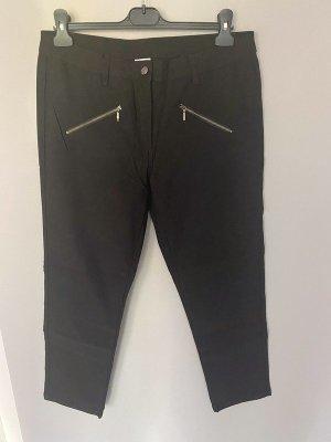 Schwarze Stoffhose von UpFashion, Gr. 44