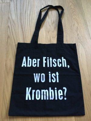 Schwarze Stofftasche mit lustigem Spruch