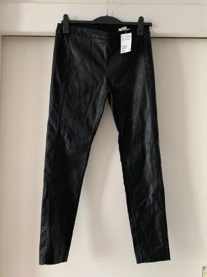 Schwarze Stretch Hose, Größe 40, Lederoptik, neu