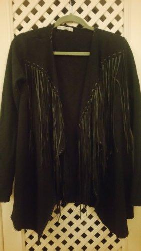 Schwarze Strick jacke von Zara