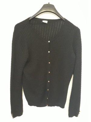 Schwarze Strickjacke mit schönem Muster