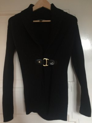Lauren by Ralph Lauren Knitted Wrap Cardigan black