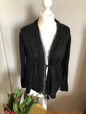 Schwarze Strickjacke von Zara Knit, Gr. M