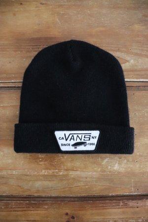 Schwarze Strickmütze Beanie von Vans in schwarz