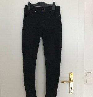 Schwarze super skinny Jeans, Größe 38