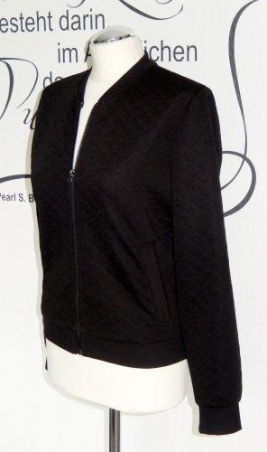 Schwarze Sweatjacke im Blousonstil - Nur einmal getragen!