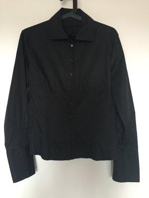 Schwarze taillierte Bluse von BOSS