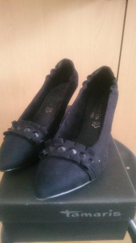 schwarze Tamaris Lederpumps