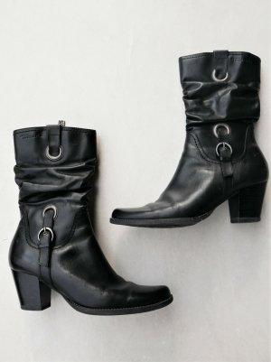 Schwarze Tamaris Stiefel