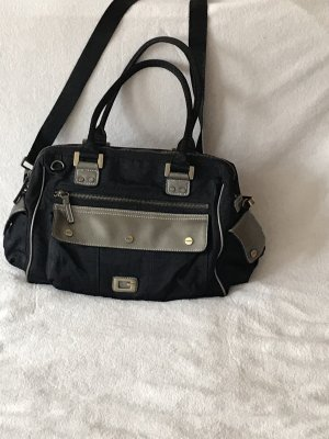 Guess Shoulder Bag black-silver-colored