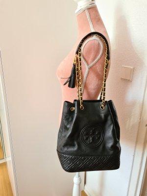 """schwarze Tasche """"Fleming Bucket Bag"""" von Tory Burch"""
