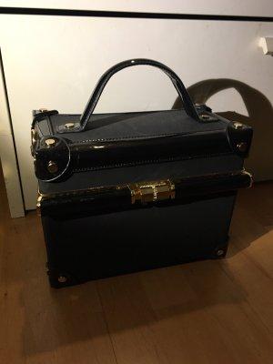 Schwarze Tasche Köfferchen mit Schultergurt neu