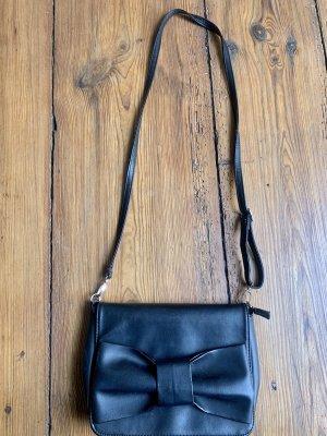 Schwarze Tasche mit großer Schleife