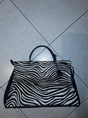 Carry Bag black-white leather