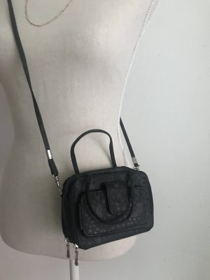 schwarze Tasche Umhängetasche mit Schmetterlingen NEU VB