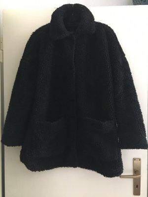 H&M Giacca in eco pelliccia nero