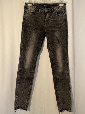 Schwarze Tigha Jeans in used Optik in 29