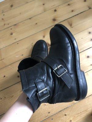 Schwarze Topshop-Boots in Größe 38
