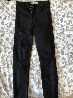 Schwarze Topshop Jamie Jeans